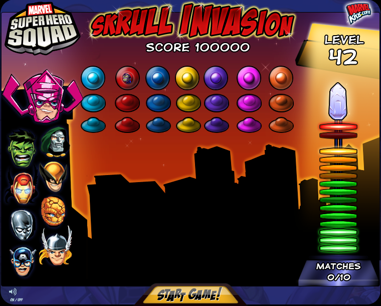 Marvel Skrull Invasion Game Design & Artwork