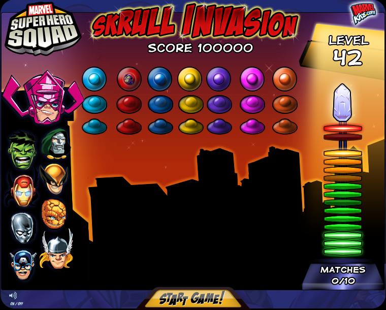 Marvel Skrull Invasion Game Design & Artwork